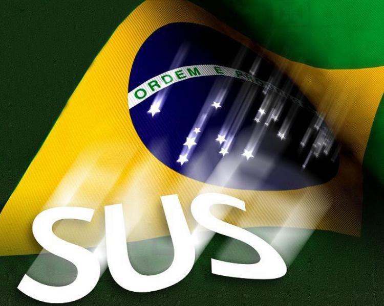 Bandeira do Brasil e SUS