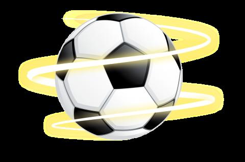 Bola de futebol oreta e branca