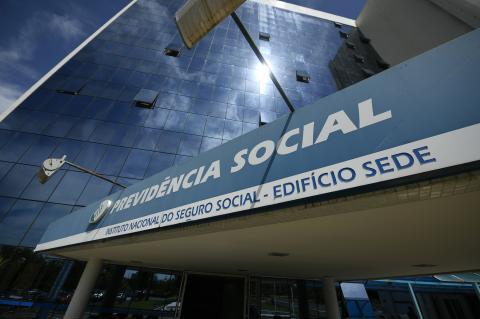 Recorte da fachada do prédio sede da Previdência Social