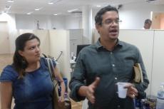 Luana Bonone e Miguel do Rosário, do Centro de Estudos de Mídia Barão de Itararé (Foto: Eliane Bardanachvili/CEE-Fiocruz)