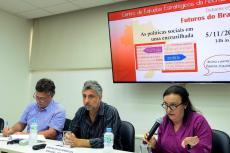 Fagnani, José Maurício e Ligia Bahia (Foto: Peter Iliciev/CCS/Fiocruz)