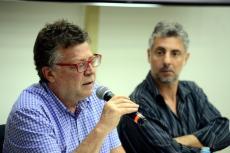 Fagnani e José Maurício Domingues (Foto: Peter Iliciev/CCS/Fiocruz)